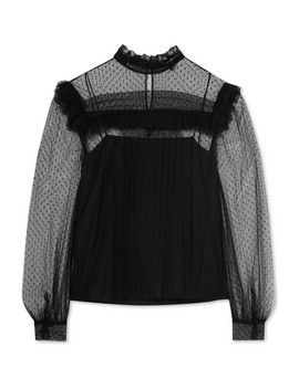 Ruffled Point D'esprit Tulle Blouse by Miu Miu