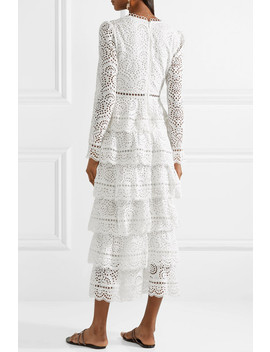Bayou Tiered Broderie Anglaise Cotton Maxi Dress by Zimmermann