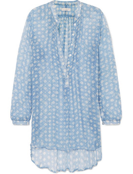 Andrea Printed Silk Crepon Tunic by Cloe Cassandro