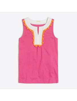 Girls' Pom Pom Tank by J.Crew