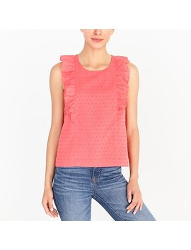 Textured Ruffle Tank Top by J.Crew