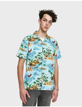 Hawaiian Shirt In Pelican Cameo Blue by Levi's