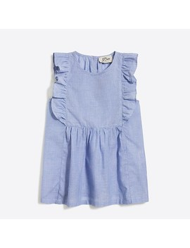 Girls' Ruffle Cotton Shell by J.Crew