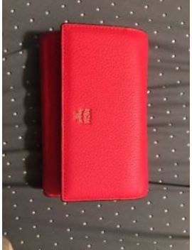 Mcm Authentic Red Leather Wallet by Mcm