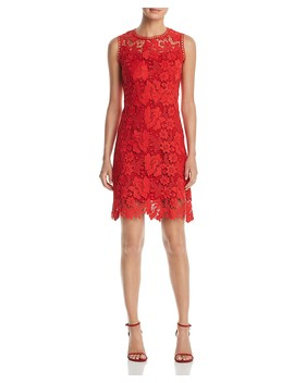 Jolie Sleeveless Lace Dress by T Tahari