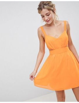 Asos Design Cut Out Mini Dress With Cami Straps by Asos Design