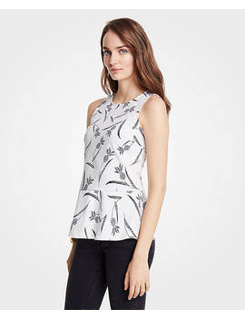 Pineapple Peplum Shell by Ann Taylor