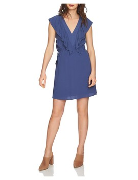 Ruffle Trim V Neck Dress by 1.State