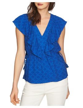 Ruffled Jacquard Top by 1.State