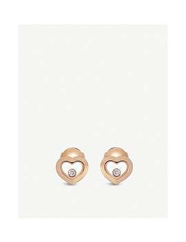 Happy Diamonds Icons 18ct Rose Gold And Diamond Earrings by Chopard
