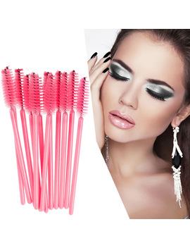 50 Pcs/Pack Disposable Eyelash Brush Mascara Wands Applicator Wand Brushes Eyelash Comb Brushes Spoolers Makeup Tool For Woman by Vktech