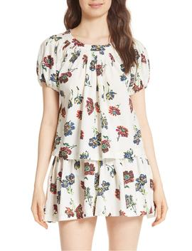Celie Floral Print Blouse by Ulla Johnson