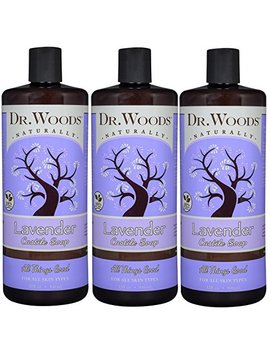 Dr. Woods Pure Relaxing Lavender Liquid Castile Soap, 32 Ounce (Pack Of 3) by Dr. Woods