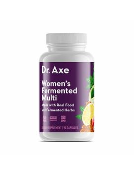 Dr. Axe Women's Multivitamin Supplement, 90 Capsules   Made With Real Food And Fermented Herbs by Dr. Axe