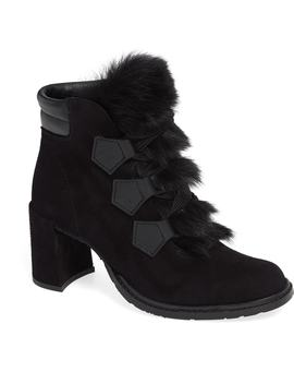 Wilmette Bootie With Genuine Shearling Trim by Pedro Garcia
