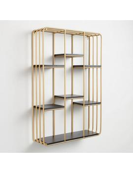 Gold And Black Wall Shelf by World Market
