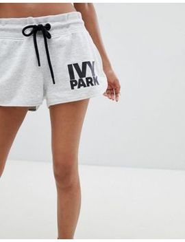 Ivy Park Logo Shorts In Grey by Ivy Park