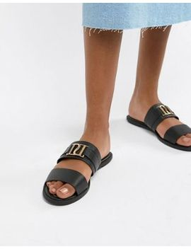 River Island Double Strap Sliders by River Island