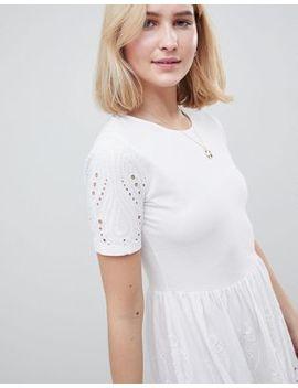 Asos Design Tall Broderie Mini Skater Dress by Asos Design