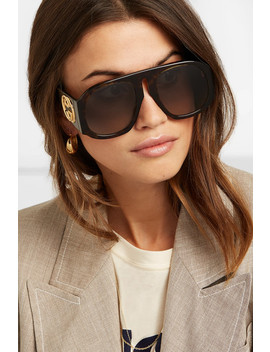 Embellished D Frame Acetate Sunglasses by Gucci