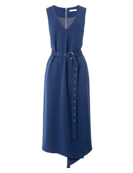 Drape Twill Wrap Dress by Tibi