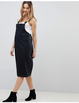Supermom Maternity Pinafore Denim Midi Dress by Supermom