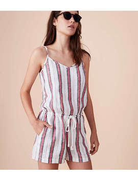Lou & Grey Striped Cami Romper by Loft