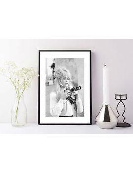 Brigitte Bardot Camera , Fashion Photography , Vintage French Actress Print by Ebay Seller