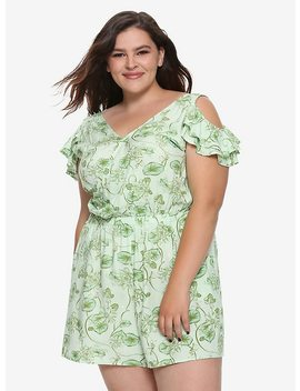 Her Universe Destination Disney The Princess And The Frog Cold Shoulder Romper Plus Size by Hot Topic