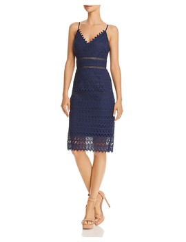 Scalloped Lace Sheath Dress   100 Percents Exclusive  by Aqua