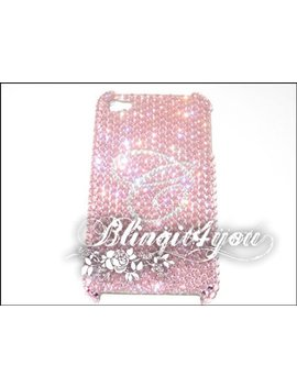 Custom Rhinestone Pink Diamond Bling Letter Initial Back Case Cover I Phone 5 6 6 S 7 8 X 10 Plus Handmade W/ 100 Percents Swarovski Crystal Elements by Etsy