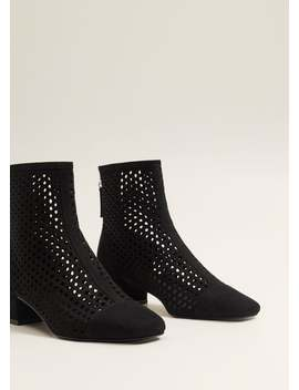 Openwork Zipped Boots by Mango