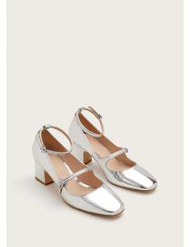 Straps Metallic Shoes by Mango