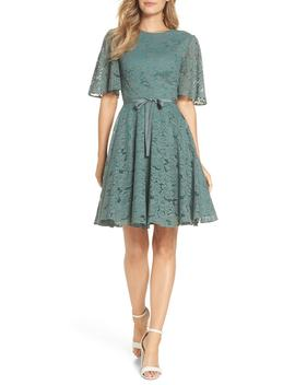 Harper Lace Fit & Flare Dress by Gal Meets Glam Collection