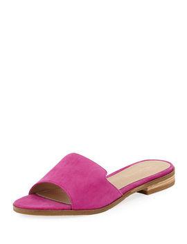 Hailey Suede Low Slide Sandal by Pelle Moda