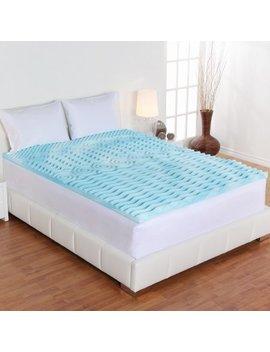 "4"" Orthopedic 5 Zone Foam Mattress Topper By Authentic Comfort by Authentic Comfort"
