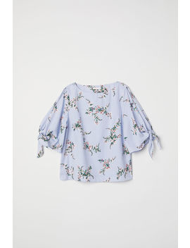 Tie Sleeve Cotton Blouse by H&M