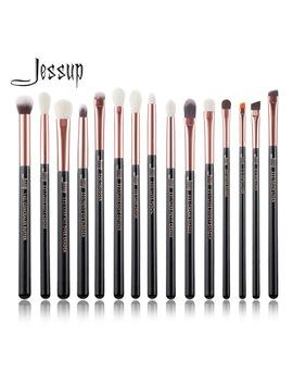Jessup Brand Rose Gold/Black Professional Makeup Brushes Set Make Up Brush Tools Kit Eye Liner Shader Natural Synthetic Hair  by Jessup