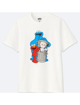 T Shirt Graphique Kaws X Sesame Street by Uniqlo
