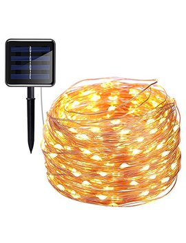 Inst 200 Led Solar Powered String Lights, Copper Wire Lights, 72ft 8 Modes Starry Lights, Waterproof Ip65 Fairy Decorative Lights For Outdoor, Wedding, Homes, Party, Halloween (Warm White) (1pcs) by Inst