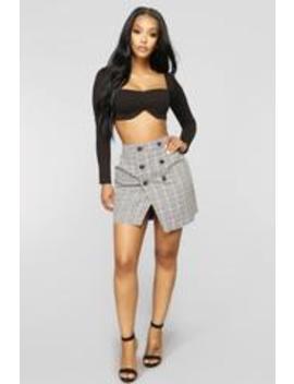 Back To Business Skirt   Black by Fashion Nova