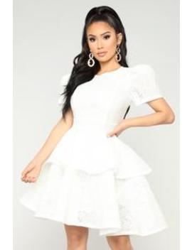 Plastic Princess Dress   White by Fashion Nova