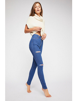 Destroyed Long And Lean Jegging by Free People