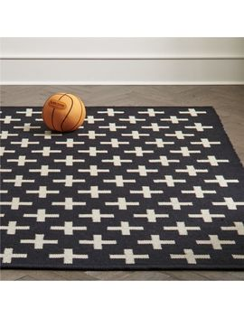 Positive Black Indoor Outdoor Rug by Crate&Barrel