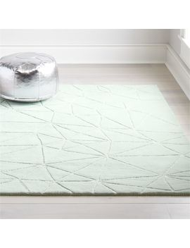 Crystal Mosaic Mint Rug by Crate&Barrel