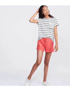 Lou & Grey Garment Dye Roped Linen Shorts by Loft
