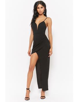 Plunging High Low Prom Dress by Forever 21