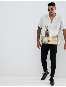 asos-design---oversized-overhemd-met-reverskraag-en-rodeoprint by asos