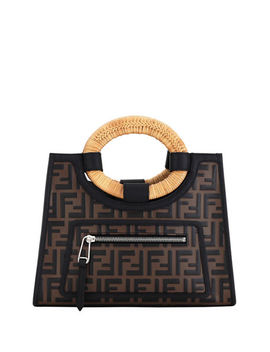 Runaway Small Ff Embossed Calf Shopping Tote Bag by Fendi
