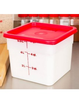 Cambro 6 Sfscw135 Camsquare Food Container With Lid, 6 Quart by Cambro